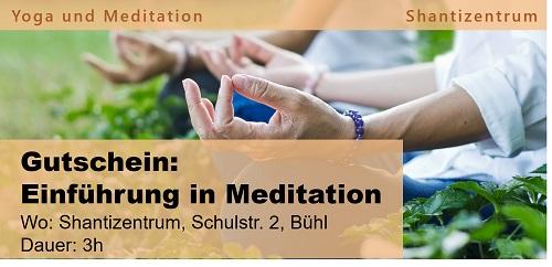Gutschein: Einführung in Meditation